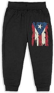 Easionerol Vintage Puerto Rico Flag Child Long Sweatpants Jogger Trousers