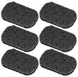 Iconikal 4.5 x 3-inch Bar Soap Saver, 6-Pack (Charcoal)