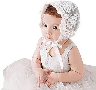 CC-US Baby Girls Princess Bonnet Lace Hat Cotton Adjustable Sun Hat Beanie