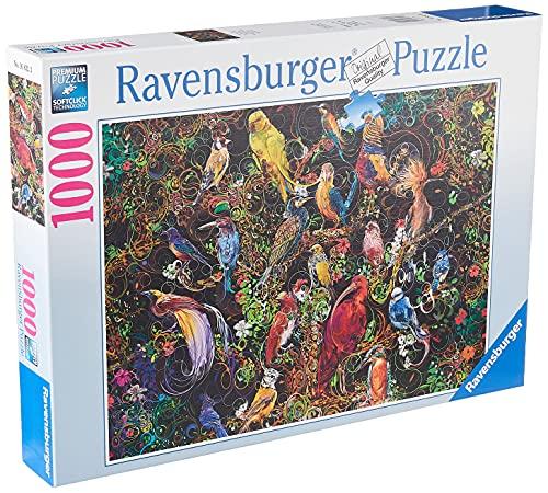 Ravensburger Puzzle Puzzle 1000 Pezzi, Uccelli Colorati, Puzzle per Adulti, Puzzle Animali, Puzzle Ravensburger - Stampa di Alta Qualità
