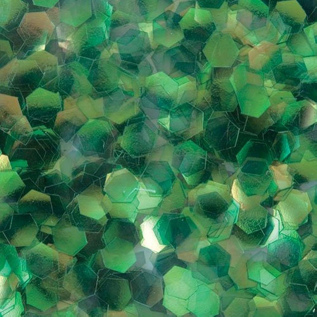 冷淡な弾丸居間ピカエース ネイル用パウダー 六角オーロラG 2.5mm #330 グリーン 0.5g