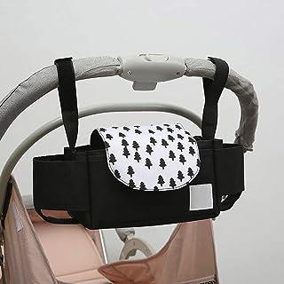 Barnvagn organiserare buggy barnvagnsväska med kopphållare för barnvagn bärbar stor kapacitet hängande mamma förvaringsväs...