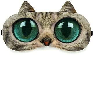 Zabrina Funny Creative Animated Cartoon 3D Cat Eyes Meow Sleep Mask Cute Animal 3D Eye Sleep Mask Therapy Light Shading Cover (Brown)
