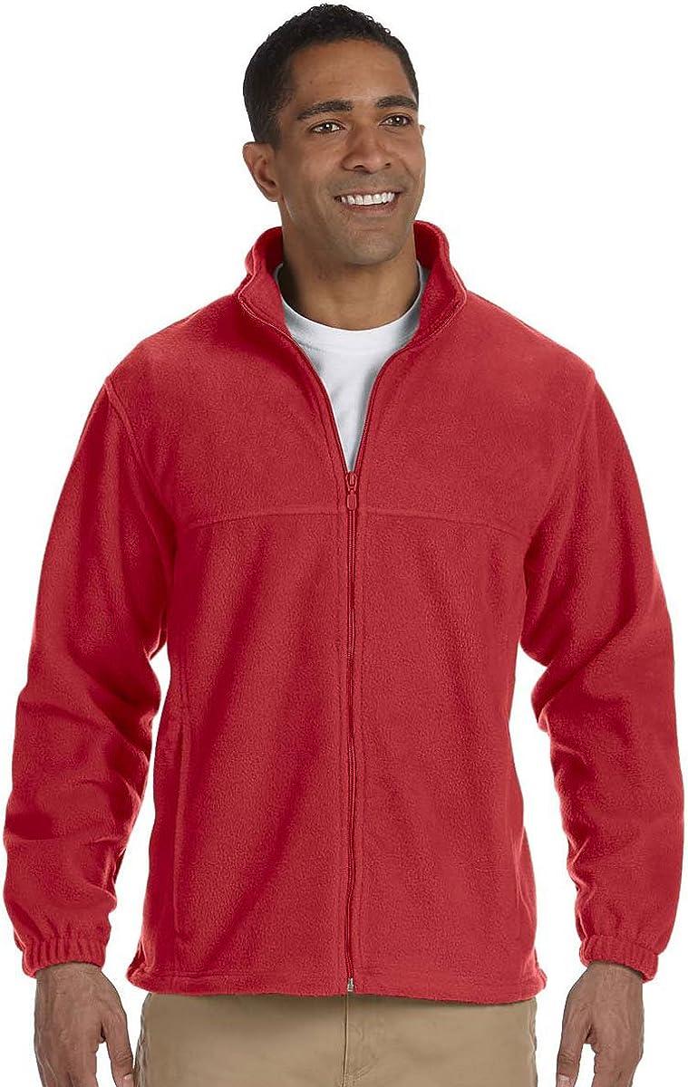 Harriton Full Zip Men's Fleece, Red