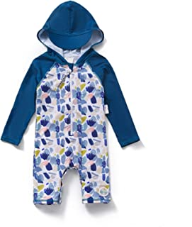 Baby Girl One Piece Hooded Swimsuit UPF 50+ Sun...
