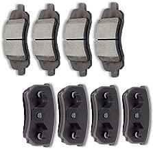 SCITOO Ceramic Discs Brake Pads Kits, 8pcs Disc Brakes Pads Set fit for 11-14 Chrysler 200,07-10 Chrysler Sebring,08-14 Dodge Avenger,08-12 Dodge Caliber,09-16 Jeep Compass,09-16 Jeep Patriot