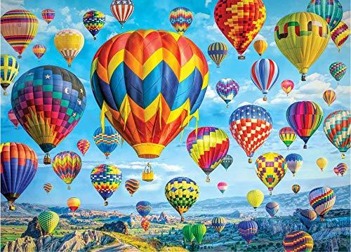 LYFKYL Puzzle - Rompecabezas de Madera 1000 Piezas Globo aerostático Niños adultos Rompecabezas Decoración del hogar Regalos de arte