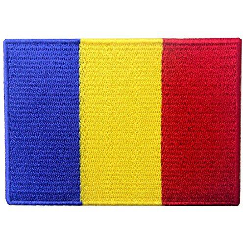 Rumänien Flagge Rumänischer Staatsangehöriger Flicken Bestickter Aufnäher zum Aufbügeln/Annähen