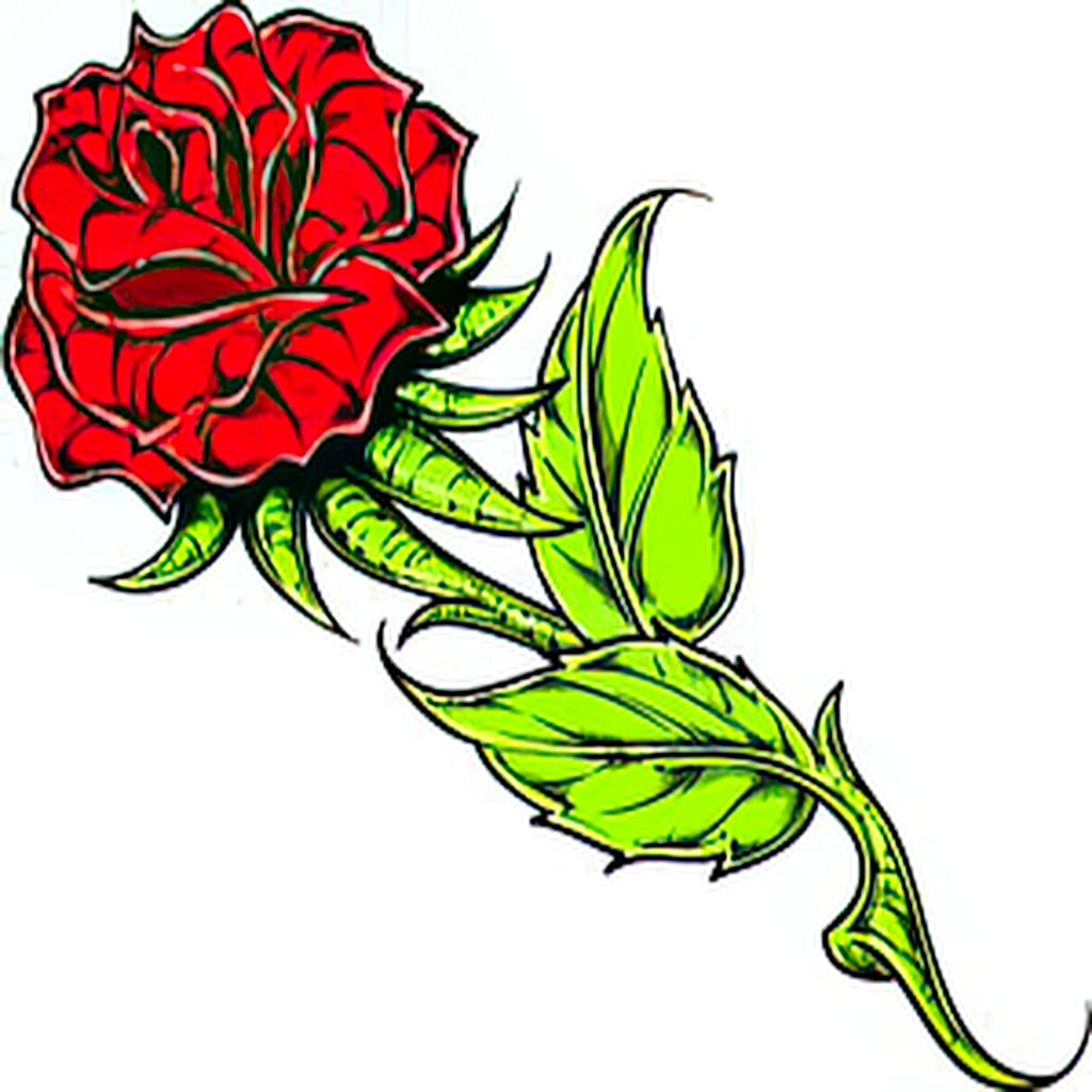Temporary Tattoos 6 Sheets Limited time for free shipping Tattoo Bea Recommendation Rose Beautiful Anniversary