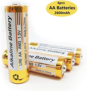 Cotchear AA Batteries, 4pcs 2600mAh Long Lasting 1.5 Volt Performance Alkaline Batteries, All-Purpose Battery for Household and Business