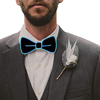 LED Light Up Bow Tie Perfect for Christmas Halloween New Years Music Festival Rave Party