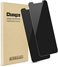 Changze Privacy Screen Protector for iPhone 11/iPhone Xr(6.1inches) Pack of 2, 9H Hardness 2.5D Edges Anti Spy Tempered Glass Film Resist Scratch Anti Broken Reduce Fingerprints.