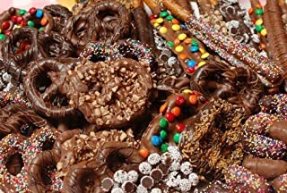 Dark Chocolate Covered Pretzels 2 LB PARTY BOWL Our Famous Best selling Bowl in DARK CHOCOLATE