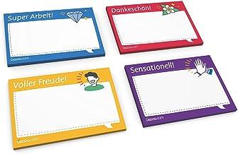 Kudos - 400 foglietti adesivi per valutazione della Germania, sensazionale, Super lavoro, ringraziamento – pieni di gioia...