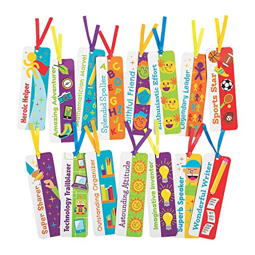 Fun Express End of Year Superlative Bookmarks - 30 Pieces - Educational and Learning Activities for Kids