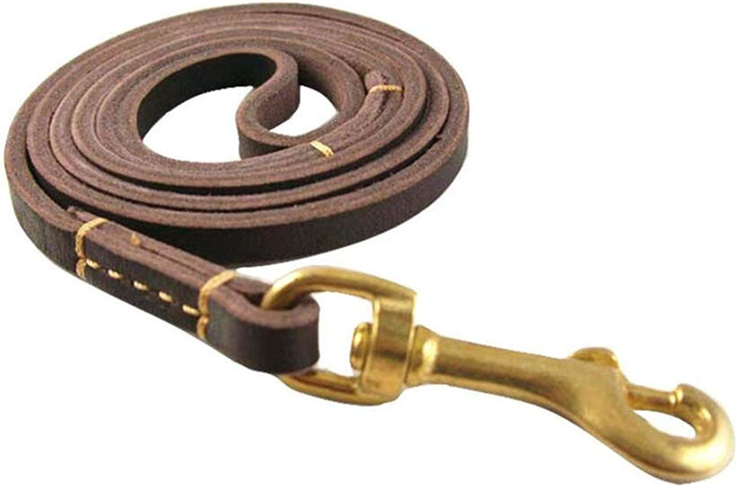 Dog Leather Leash, Dog Training Leads Rope Pet Dog Cat Puppy Tracking Walking Long Training Chain, Wine Red Dog Training Leash (colore: Dark Brown)