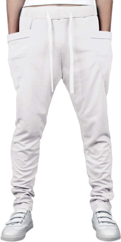 Superlatite Hoerev Men's Running Trousers Casual Limited price sale Harem Cotton Pants Jogging