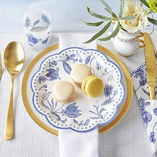 Kate Aspen Blue Willow, 7 Inch, 7 in. Decorative Premium Paper Plates (Set of 16)