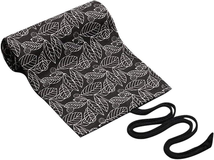 astuccio portatile arrotolabile Matite colorate in tela elegante porta penne con design a foglie organizzatore da viaggio per artisti 36