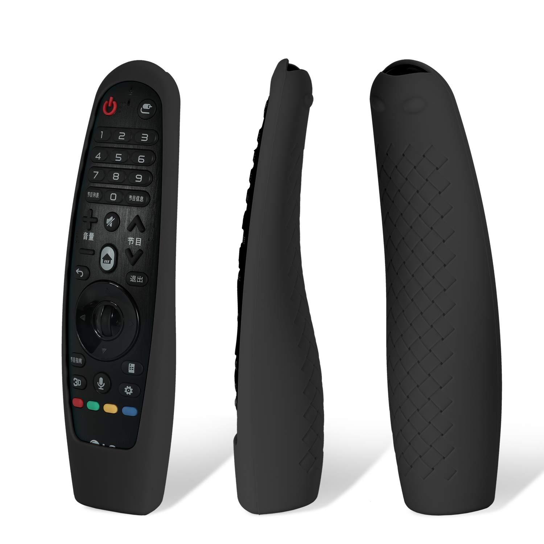MWOOT 2 Unidades Mando Funda Compatible con LG Magic Remote AN-MR19BA AN-MR18BA AN-MR650 AN-MR600, Anti-caída Carcasas Silicona para LG Mando a Distancia Protection Negro y Rojo: Amazon.es: Electrónica