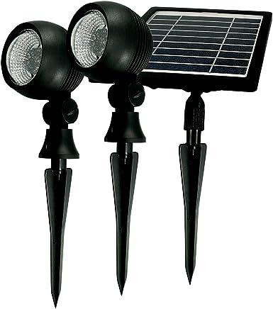 Taschibra Prime 03 15030058-02, Espeto Solar LED Incorporado a Peça, 2W, Preto