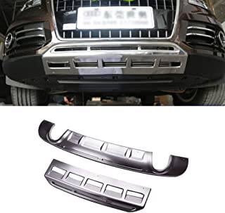 MotorFansClub Stainless Front and Rear Bumper Protector Plate for Audi Q5 2013-2016
