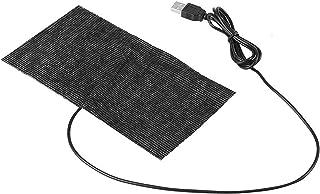 電熱 USB加熱 ヒーター バッテリー給電 5V USB炭素繊維暖房マット ヒーター ホット 防寒 秋冬用 ペット・パッド・電熱ベストに対応 USBケーブル付き 20 * 10 繰り返す利用可能 防寒