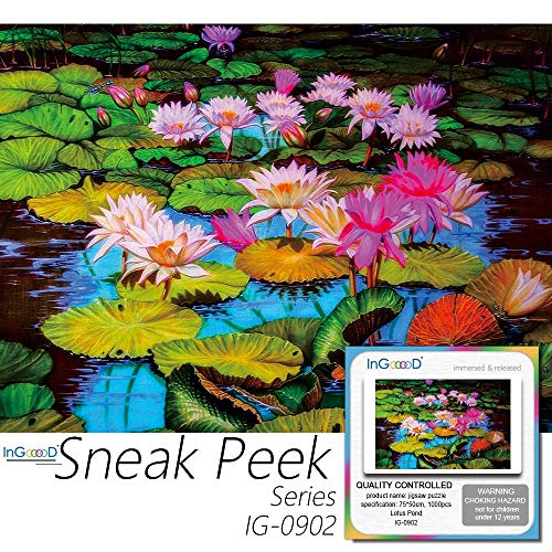 Jigsaw Puzzle 1000 Pieces  Sneak Peek Series Lotus Pond_IG 0902 Entertainment Toys for Adult Special Graduation or Birthday Gift Home Decor
