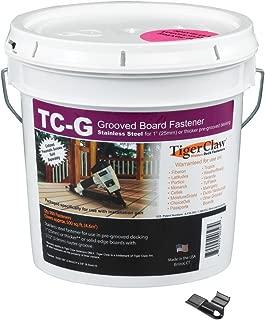 Tiger Claw TC-G Hidden Deck Fasteners, 900 Piece Bulk Pail