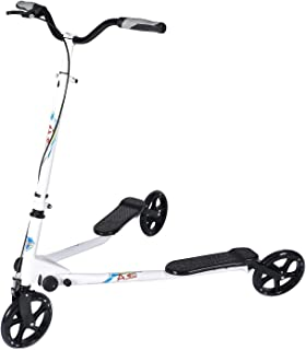AODI 3 Wheeled Scooter - Height Adjustable Push Swing Wiggle Scooters with Drifting Self Propelling for Boys/Girl/Adult Age 8 Years Old and Up