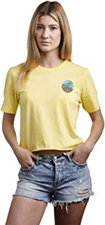 Santa Cruz Women's Dot Blocker Short Sleeve Crop Top T-Shirt