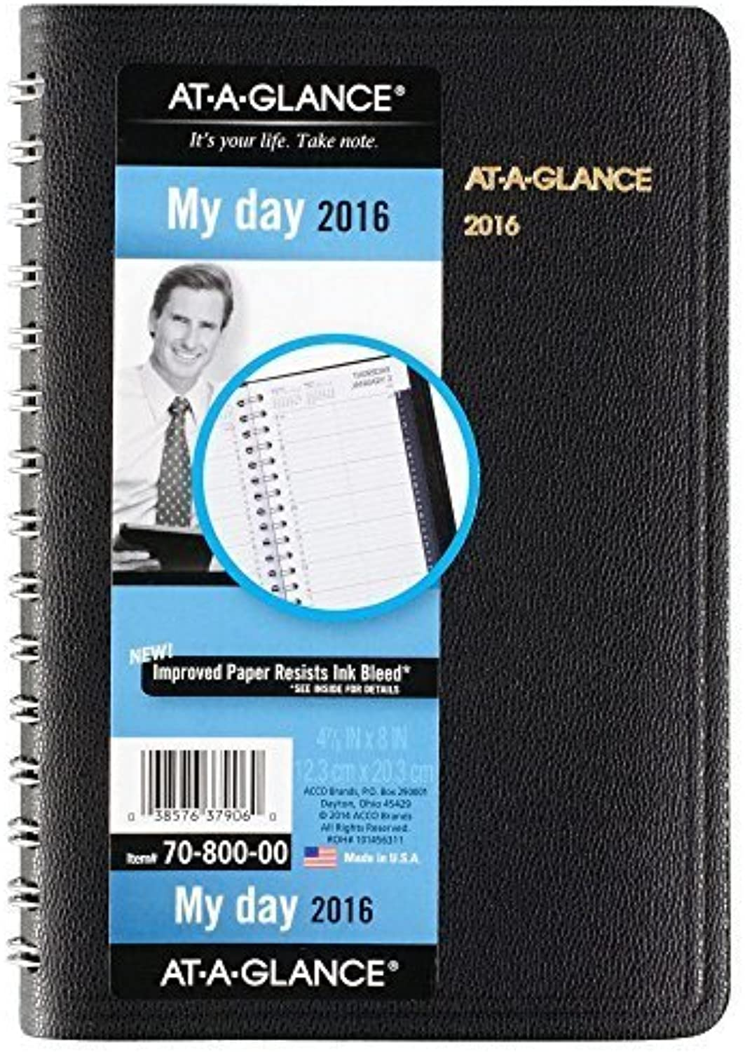 AT-A-GLANCE Daily Appointment Book   Planner 2016, 12 Months, 4.88 x 8 Inch Page Größe, Assorted Farbes (7080000) by At-A-Glance B018REL3P6 | Offizielle