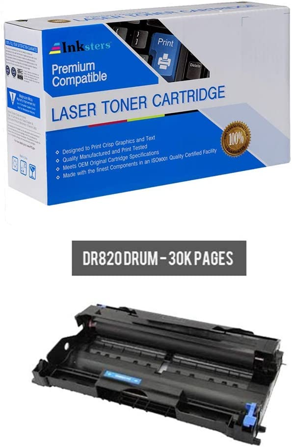 Inksters Compatible Imaging Drum Replacement for Brother DR820 - Compatible with DCP L5500DN L5600DN L5650DN HL L5000D L5100DN L5200DW