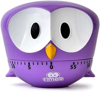 Mechanical Rotating Egg Timer for Kitchen,0~60 Minutes Timer for Mulitpurpose(Purple)
