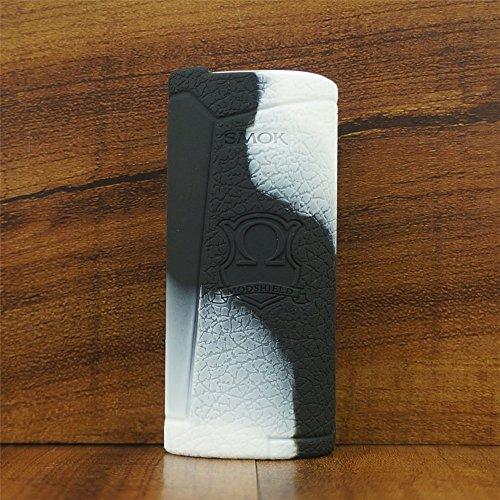 ModShield for Smok PRIV V8 60W Silicone Case ByJojo Cover Shield Wrap Skin (White/Black)