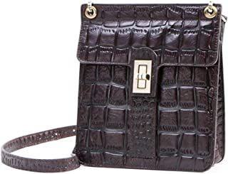 Women's Shoulder Bag,Leisure Fashion Temperament Soft Handmade Leather Vertical Square Package with Lock,A,18 * 20 * 7CM