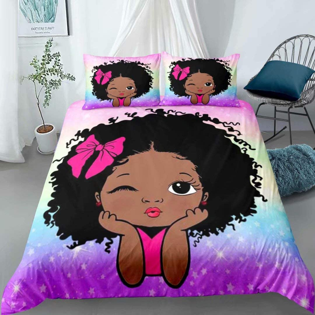 Cute Black African American Girls Set Bedding Kansas City Mall Peekaboo All stores are sold Girl Full