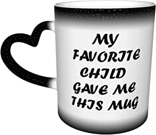 Funny Coffee Mugs Heat Changing Ceramic Tea Cup Heat Sensitive Color Changing Gift Mug For Dad Mom Grandma Teachers Teens ...