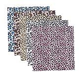 Hifuture 5PCS Patchwork Stoffe Leopard Baumwolle Stoff DIY