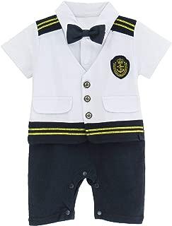 A&J DESIGN Baby Boys Sailor Captain Romper Halloween Costume Outfit