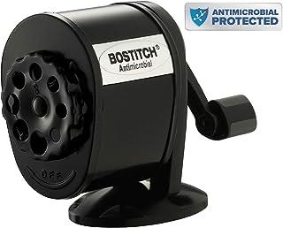 Bostitch Metal Antimicrobial Manual Pencil Sharpener, Black (MPS1-BLK)