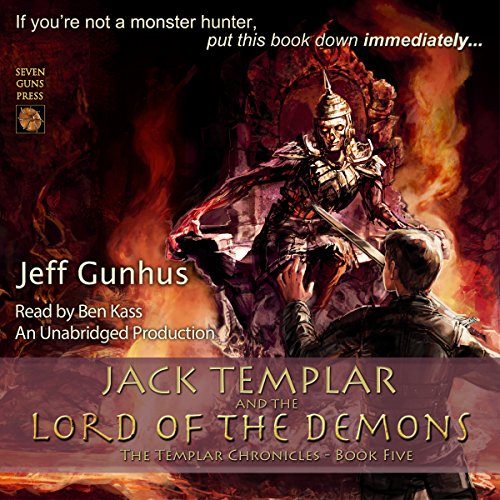 Jack Templar and the Lord of the Demons audiobook cover art