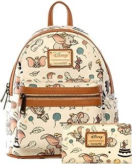 Loungefly Disney Dumbo Mini Backpack and Wallet Set (Beige)