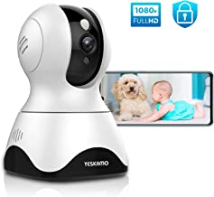 Dog Camera Pet Monitor 1080P HD Home WiFi Security Camera Wireless, Indoor Pan Tilt Zoom IP Camera for Dog/Pet/Elder/Nanny/Baby, 2 Way Audio, Full Surveillance & Motion Tracking, Compatible with Alexa