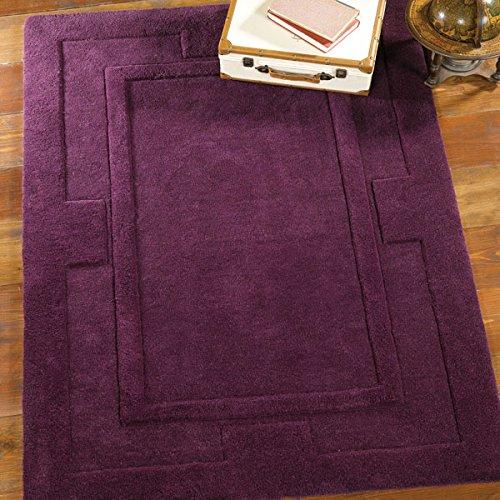 Alfombra de lana 100% Sierra Apolo de Flair Rugs, lana, Morado, 75 x 150 Cm