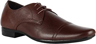 Franco Leone Men's Mid Brown Lace-up Formal Shoes