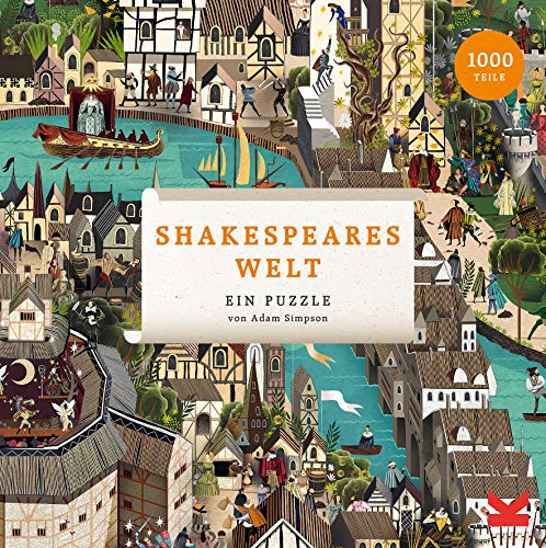 Laurence King Verlag GmbH Shakespeares Welt 1000 Teile Puzzle, Yellow