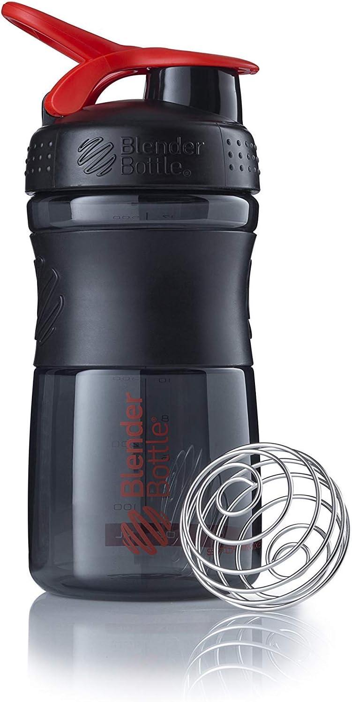 BlenderBottle Sportmixer Botella de Agua   Botella mezcladora de Batidos de proteínas   con batidor Blenderball   Libre de BPA   Tritan