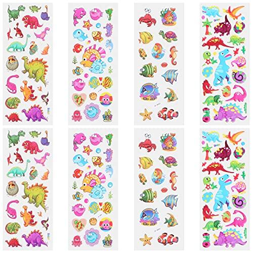 WINOMO Etiquetas engomadas decorativas, 40Pcs Encantadores Niños Dibujos Animados 3D Burbuja Pegatinas Exquisita