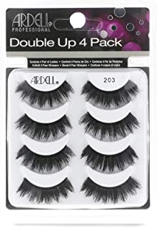 Ardell False Eyelashes 4 Pack Double Up 203, 1 pack (4 pairs per pack)